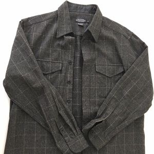 The J.Peterman Men's Lambswool Cashmere Shirt L
